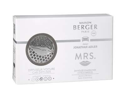 Coffret auto-diffuser + 1 recharge Jonathan Adler – Mrs. Gun Chrome/ Envolée d'Agrumes